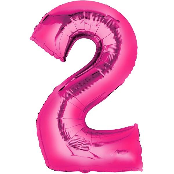 Zahlenballon XXLPink 2