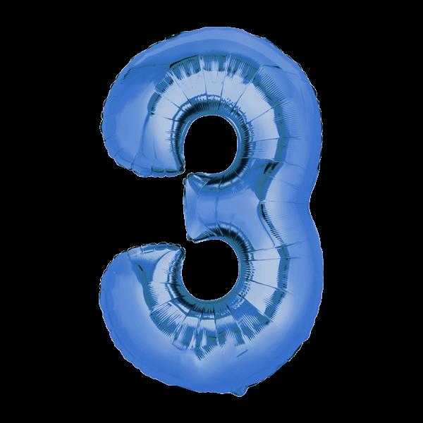 Zahlenballon XXL Blau 3