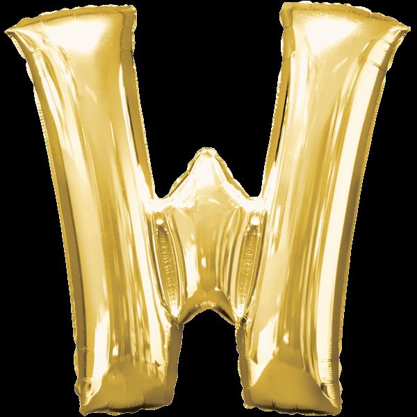 Buchstabenballon Gold XXL W