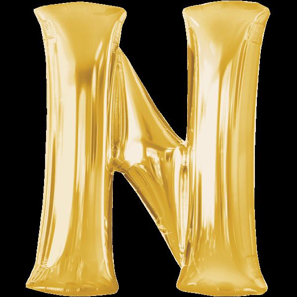 Bucshtabenballon Gold XXL N