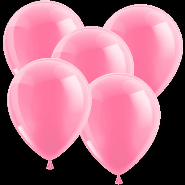 100 Latexballons - Metallic Rosa 30cm - Rund