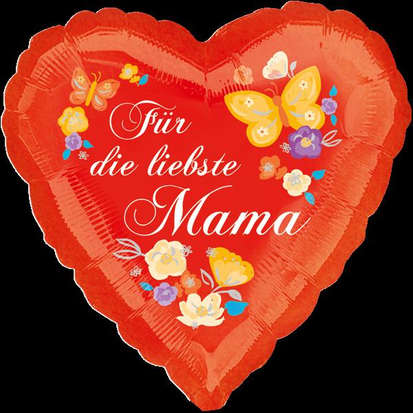 1 Folienballon - Ø 45cm - Für die liebste Mama