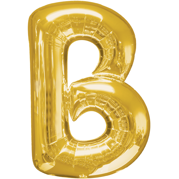 Buchstabenballon XXL Gold B