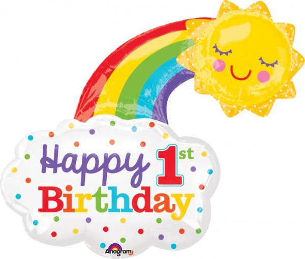 """Happy Birthday 1st Birthday"" Folienballon"