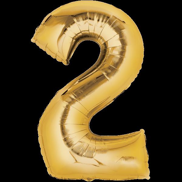 Zahlenballon XXL Gold 2