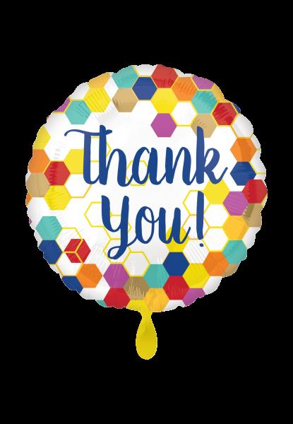 """Geometrisch """"Thank you"""" Folienballon"""