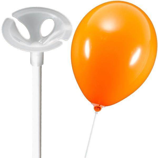 50 Stück Luftballonstäbe - Patentstäbe - Weiss