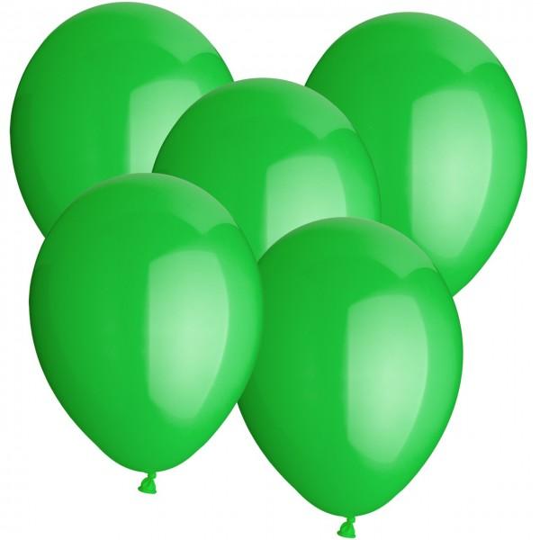 100 Latexballons - Grün - Ø 30cm - Rund
