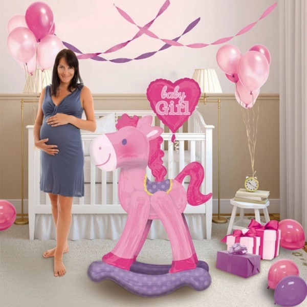 "Geburts Folienballon ""Baby Girl"" AirWalkers Ballon"