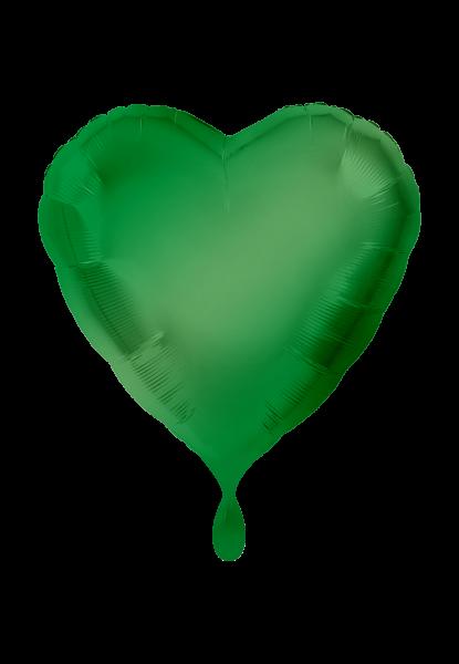 Rund - Satin Luxe - Grün Folienballon - Ø 45cm
