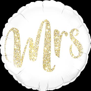 Mrs Glitter Gold Folienform Rund