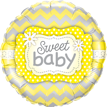 Sweet Baby Yellow Muster Folienballon