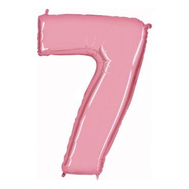 Number balloon XXLRosa 7