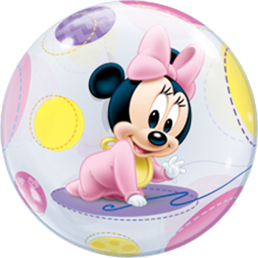 Baby Minnie Single Bubble Folienballon