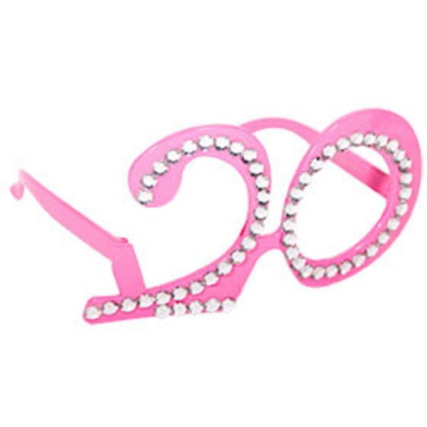Pink party glasses 20