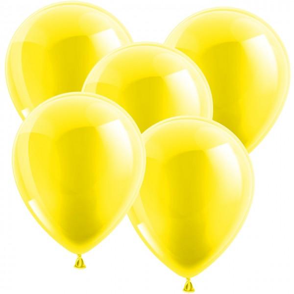100 Latexballons - Metallic Gelb 30cm - Rund