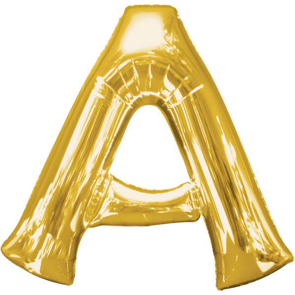 Buchstabenballon XXL Gold A