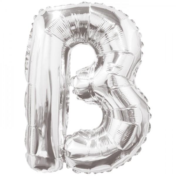 Buchstabenballon XXL Silber B