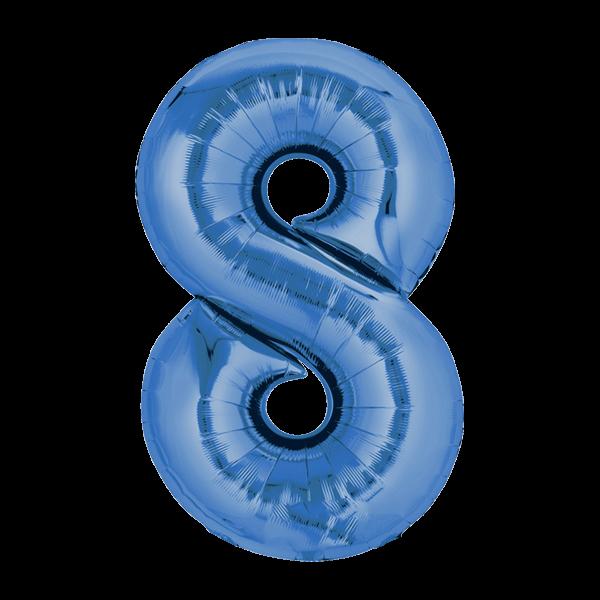 Zahlenballon XXL Blau 8
