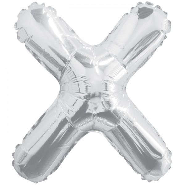 Buchstabenballon XXL Silber X