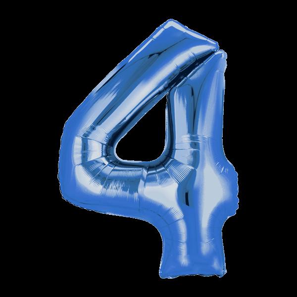 Zahlenballon XXL Blau 4