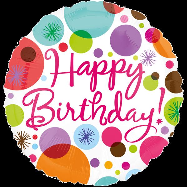 Bunt Happy Birthday Folienballon