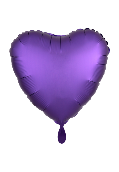 Heart - Satin Luxe - Purple Foil Balloon - Ø 45cm