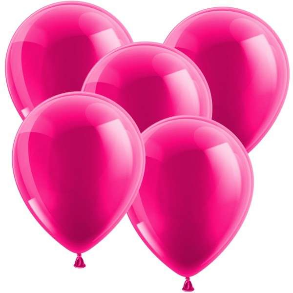 100 Latexballons - Metallic Pink 30cm - Rund