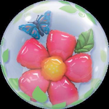Blätter-Blumen-Double Bubble 60cm
