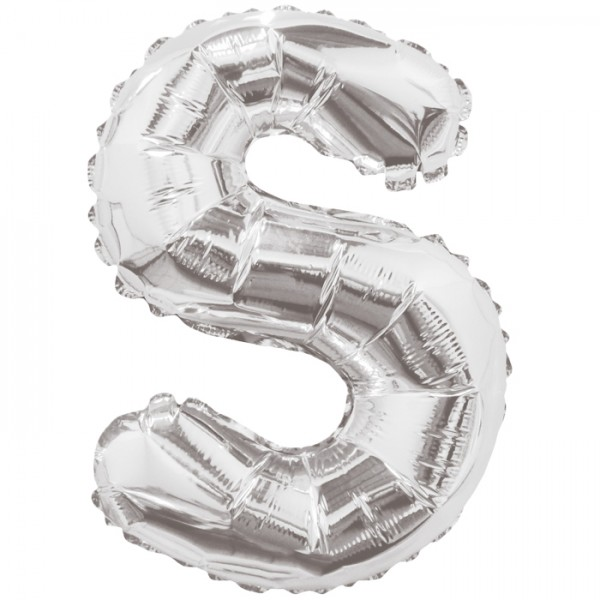 Buchstabenballon XXL Silber S