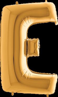Buchstabenballon XXL Gold E