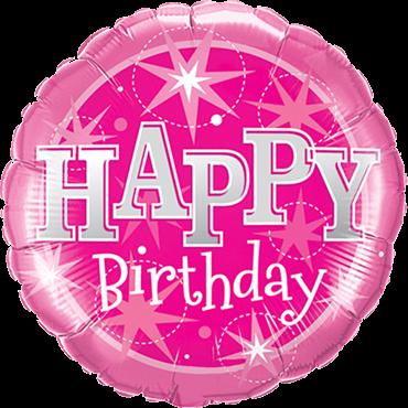 Rosa Geburtstag-Folienballon