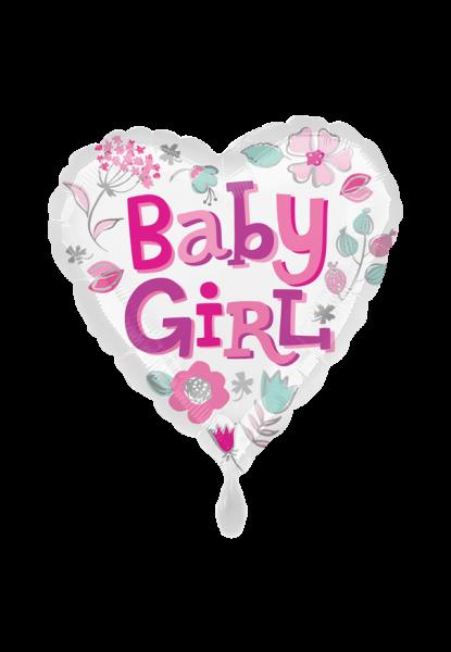 """Baby Girl"" Geburts -Folienballon herzförmig"